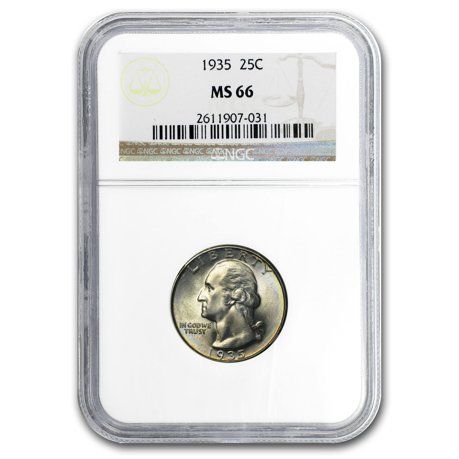 1935 Washington Quarter MS-66 NGC