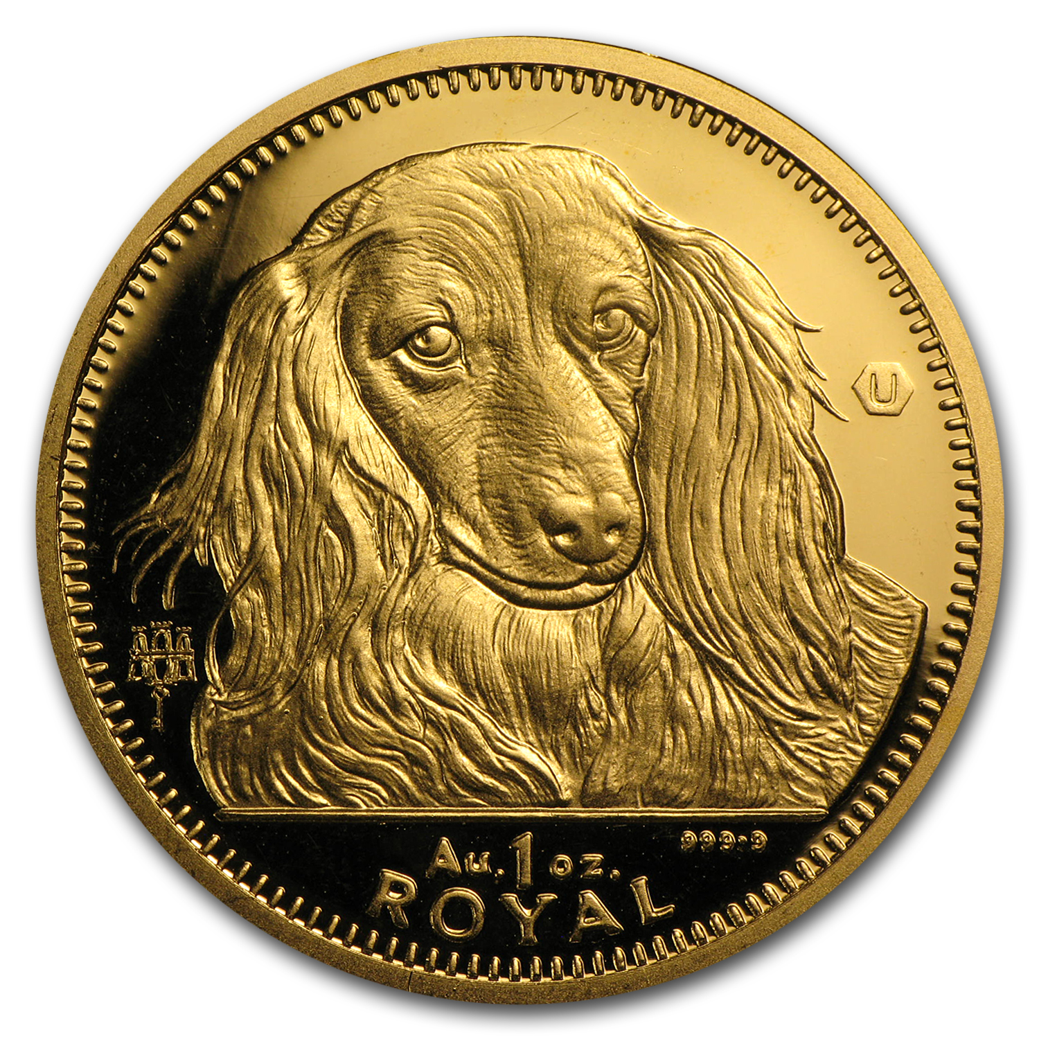 Gibraltar 1 Royal 1 oz Gold Uncirculated Dogs