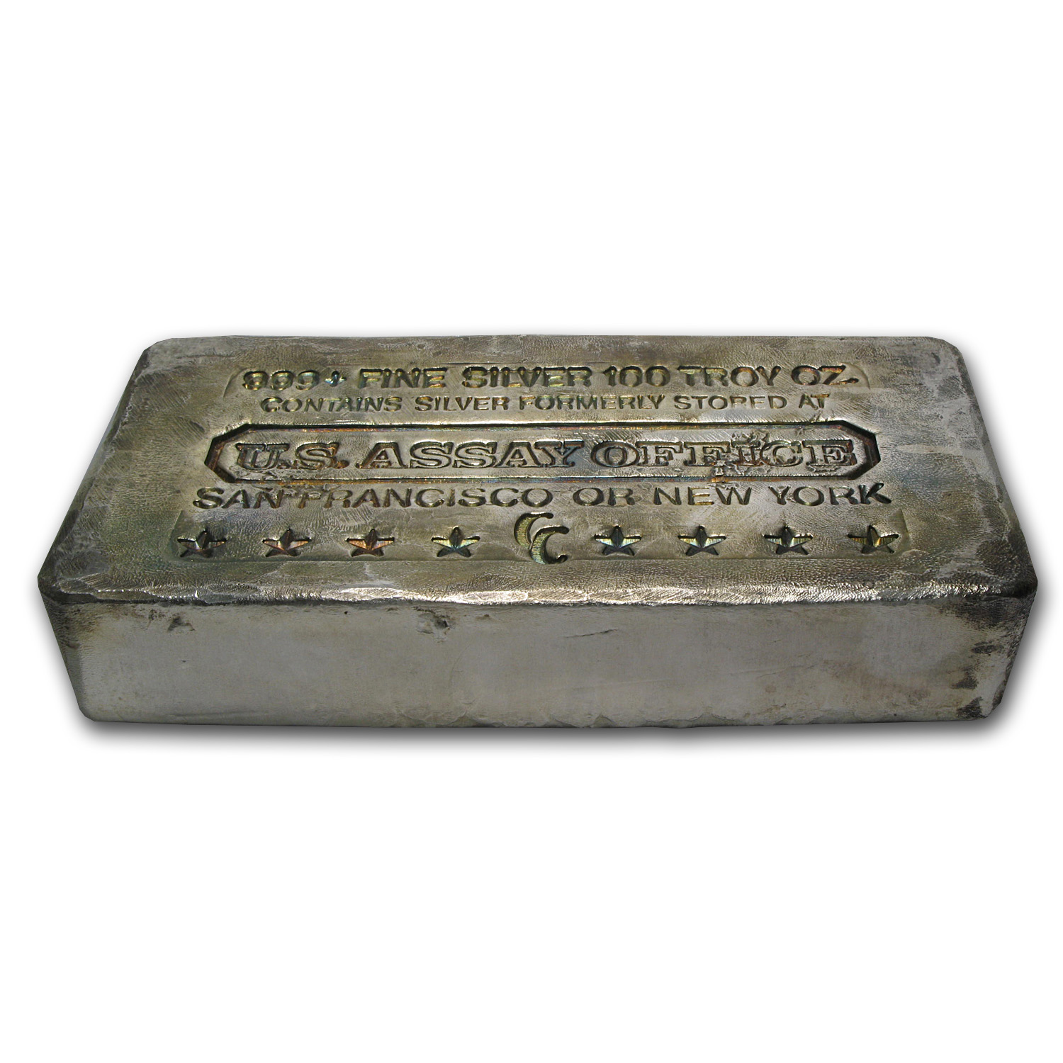 100 oz Silver Bars - U.S. Assay Office (Poured)