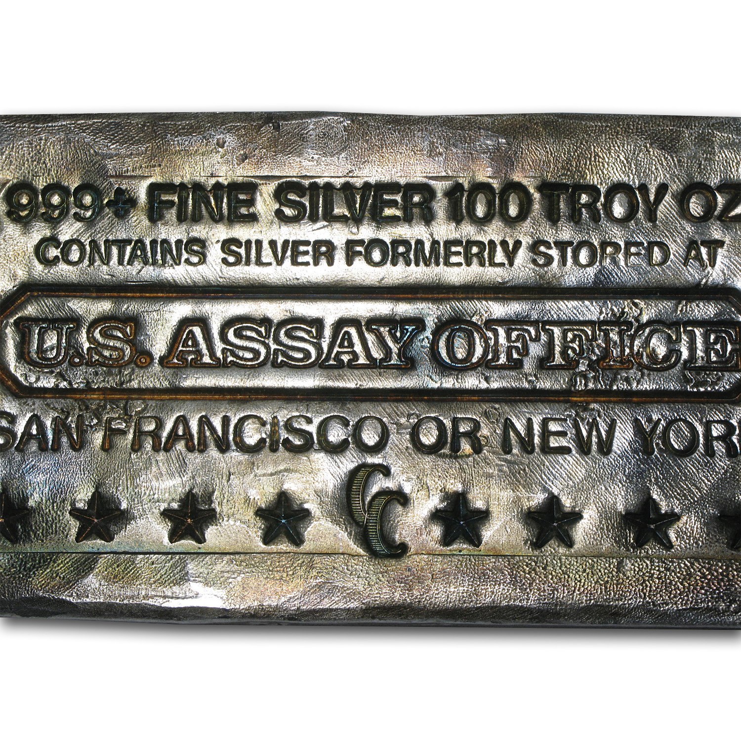 100 oz Silver Bar - U.S. Assay Office (Poured)