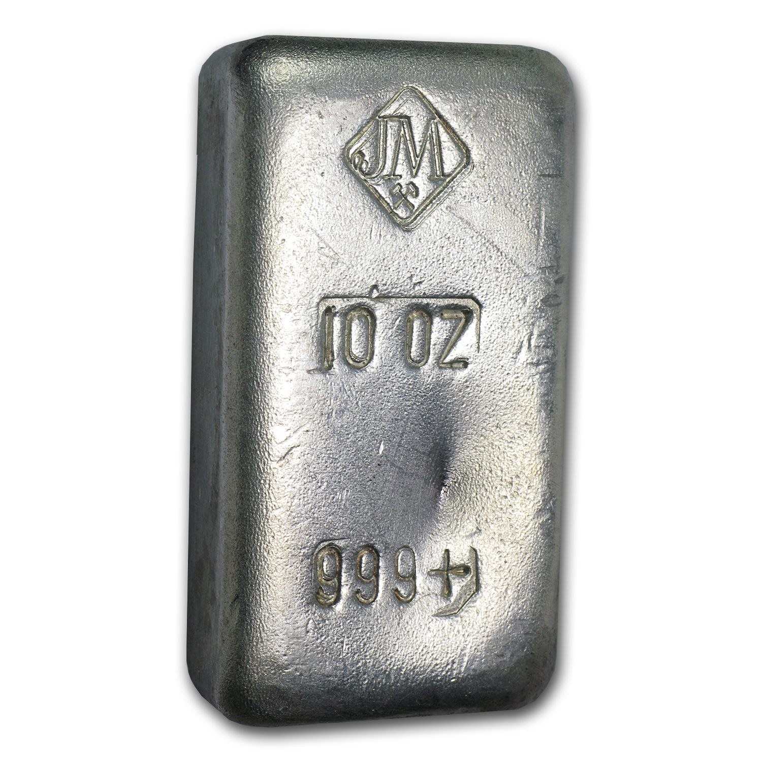 10 oz Silver Bar - Johnson Matthey (Poured, 1st Generation)