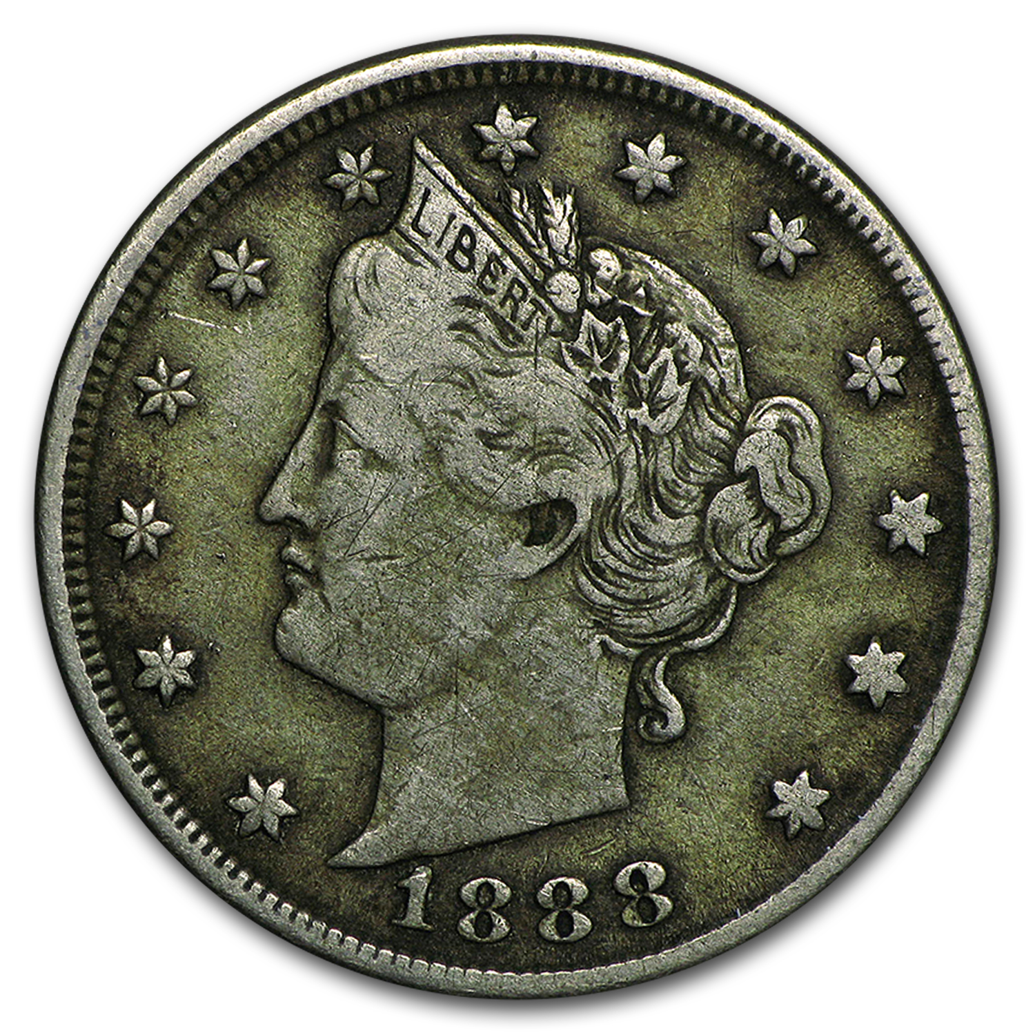 1888 Liberty Head V Nickel VF