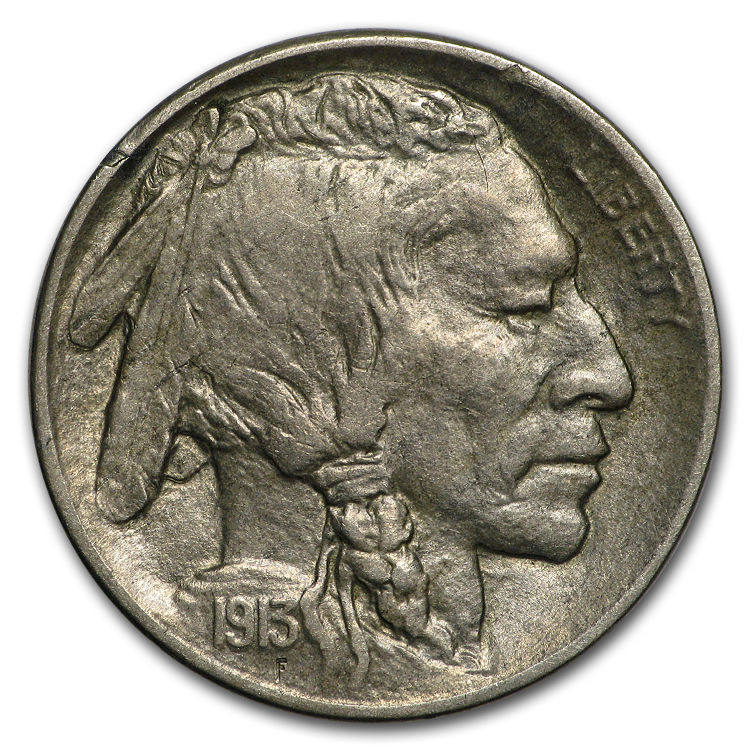 1913-D Type-II Buffalo Nickel AU
