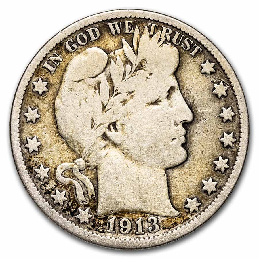 1913 Barber Half Dollar - Very Good