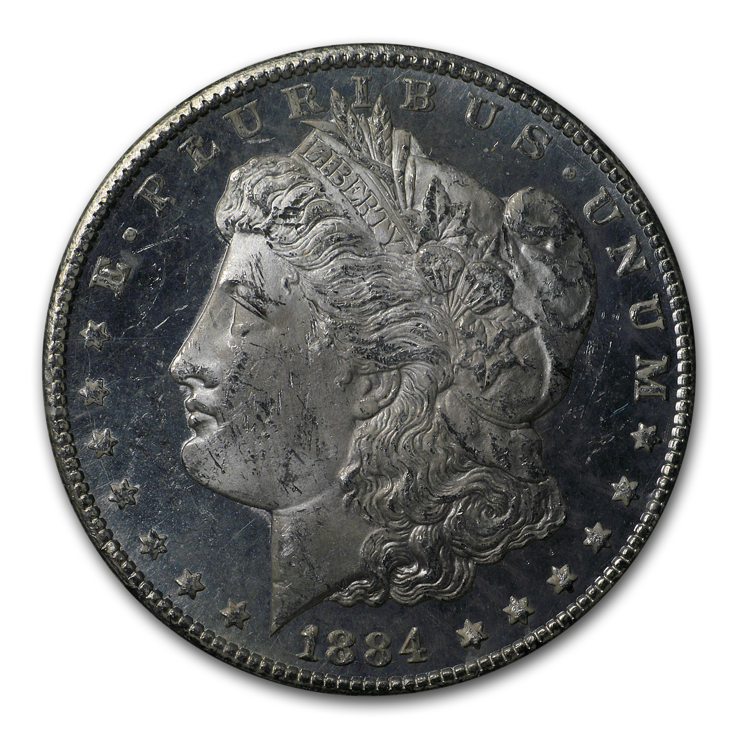 1884-CC Morgan Dollar MS-63 DPL NGC (GSA)