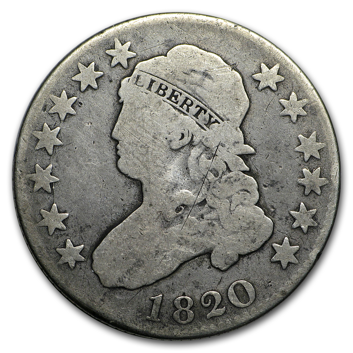 1820 Capped Bust Quarter VG (Large O)