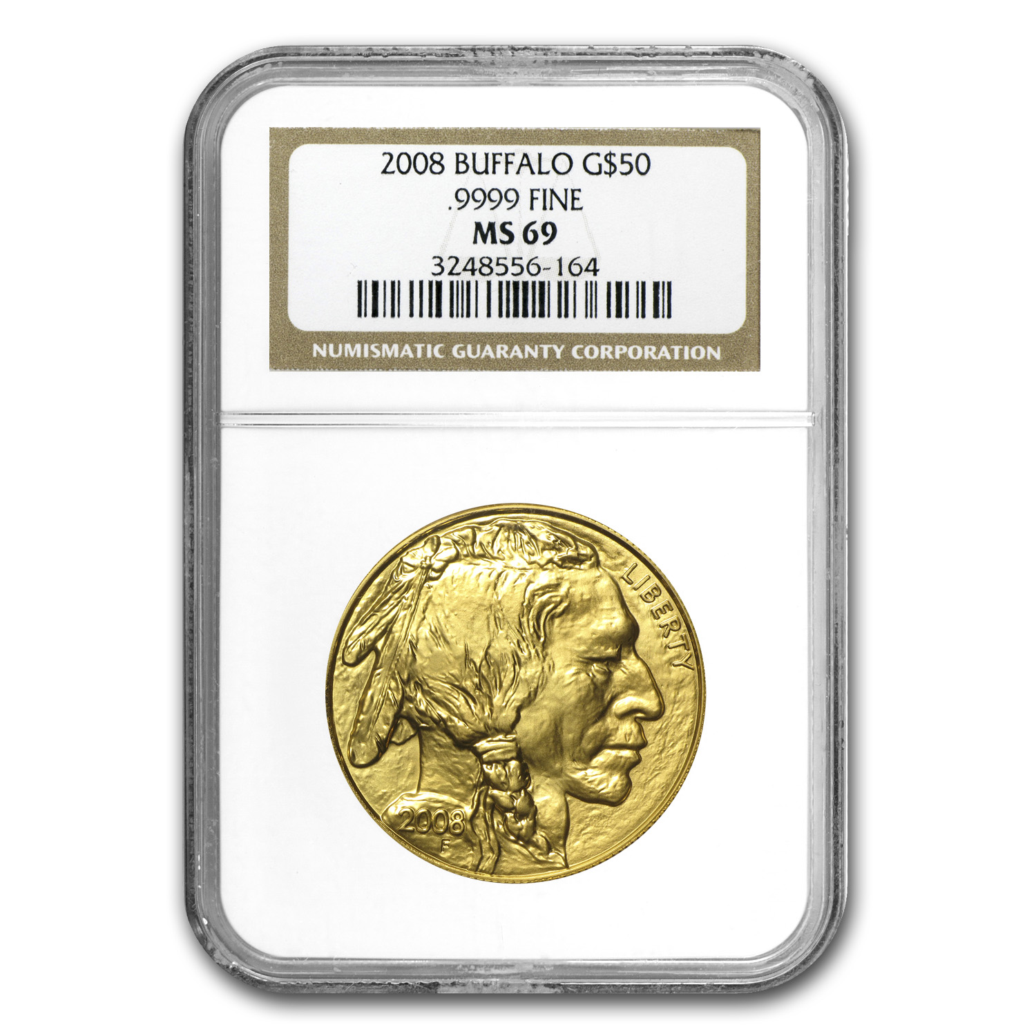2008 1 oz Gold Buffalo MS-69 NGC