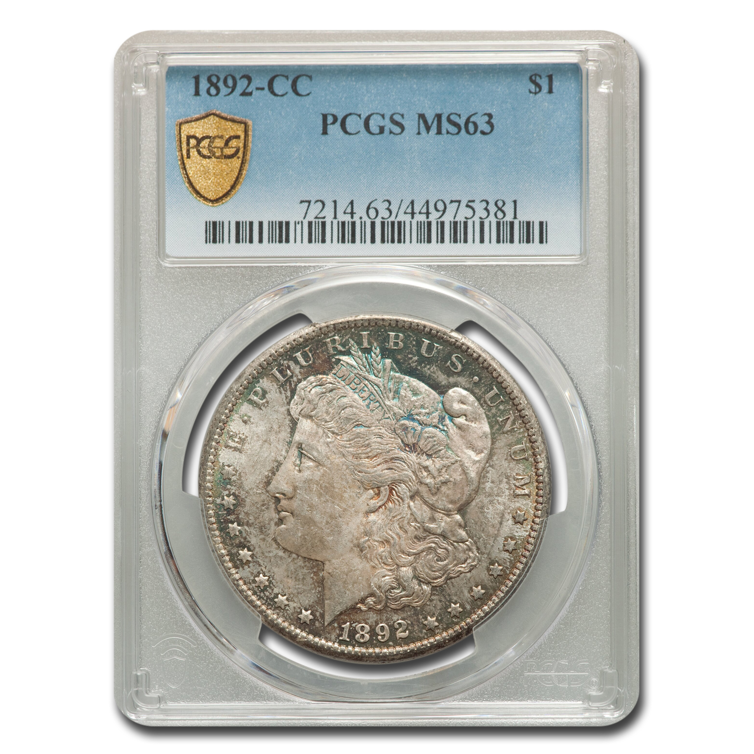 1892-CC Morgan Dollar MS-63 PCGS
