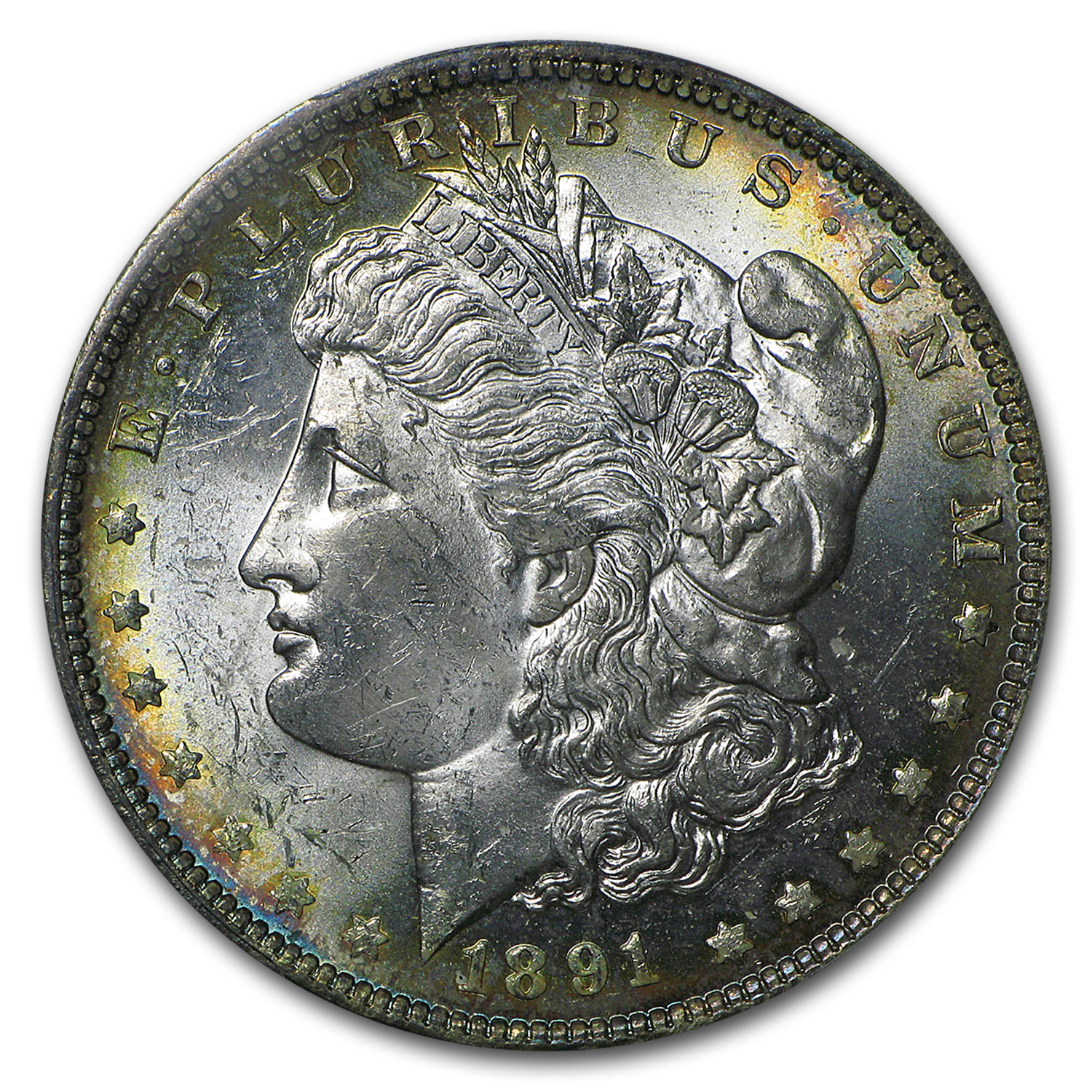 1891-O Morgan Dollar MS-62 PCGS