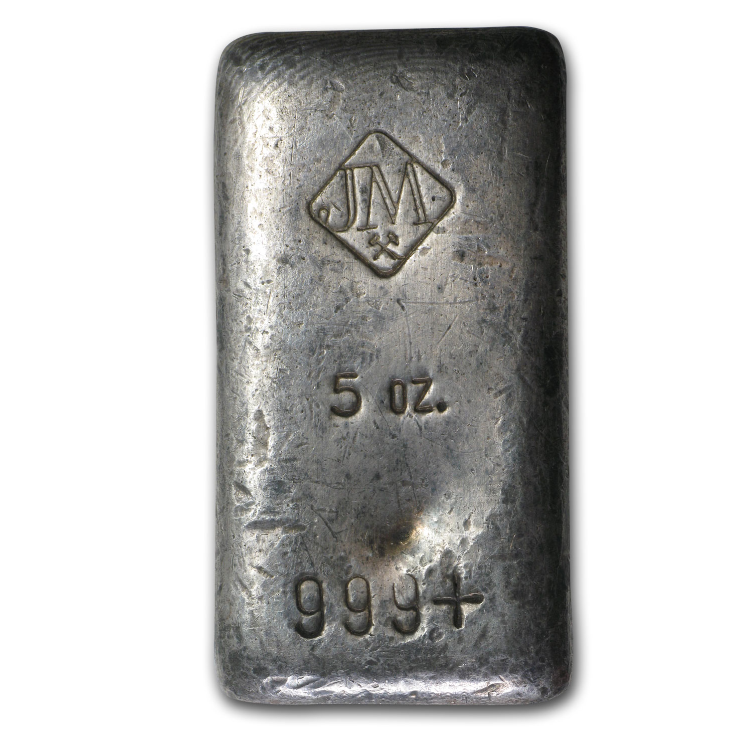 5 oz Silver Bar - Johnson Matthey (Poured/Flat)