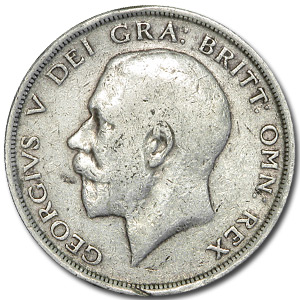 1911-1919 Great Britain Silver Half Crown George V