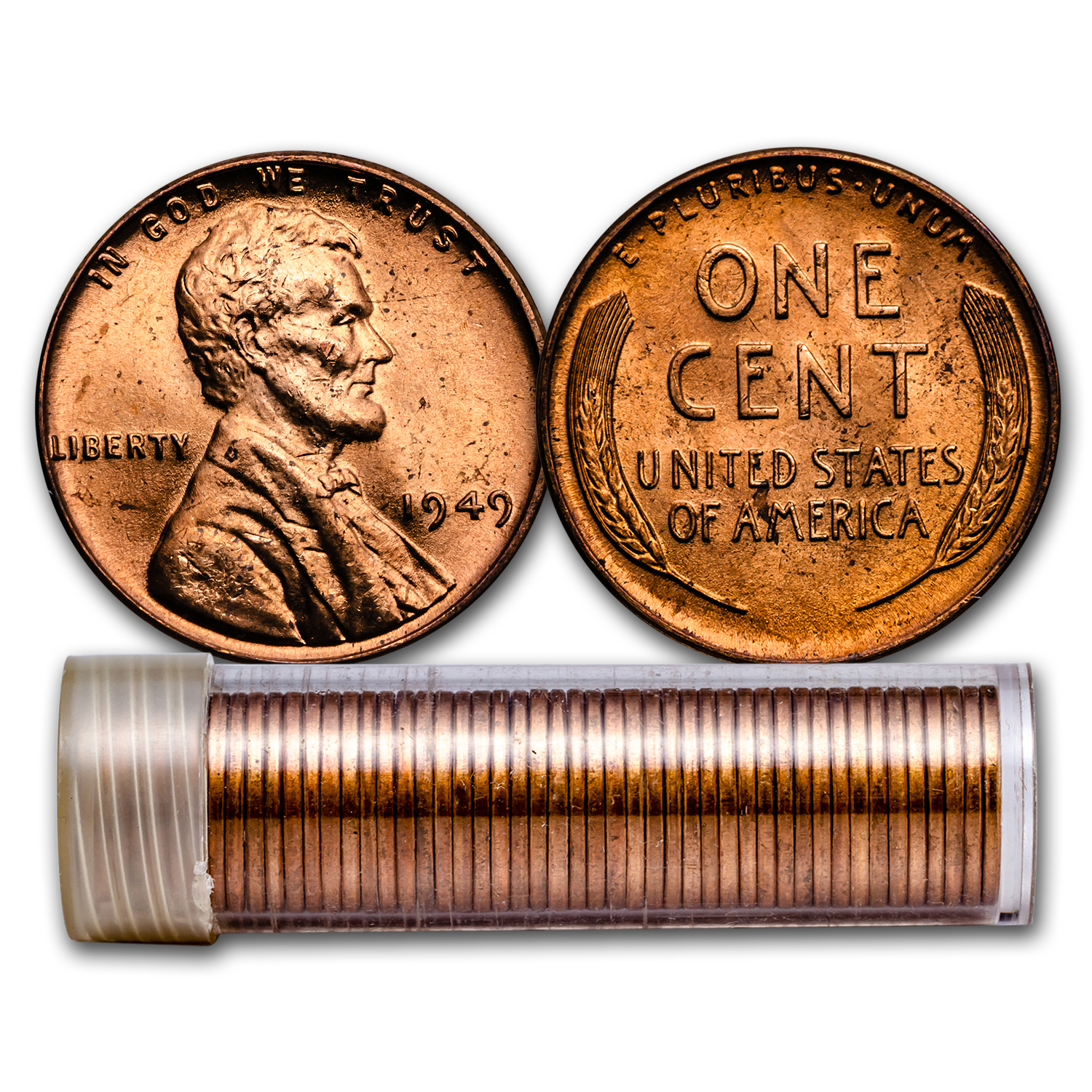 1949 Lincoln Cent 50-Coin Roll BU