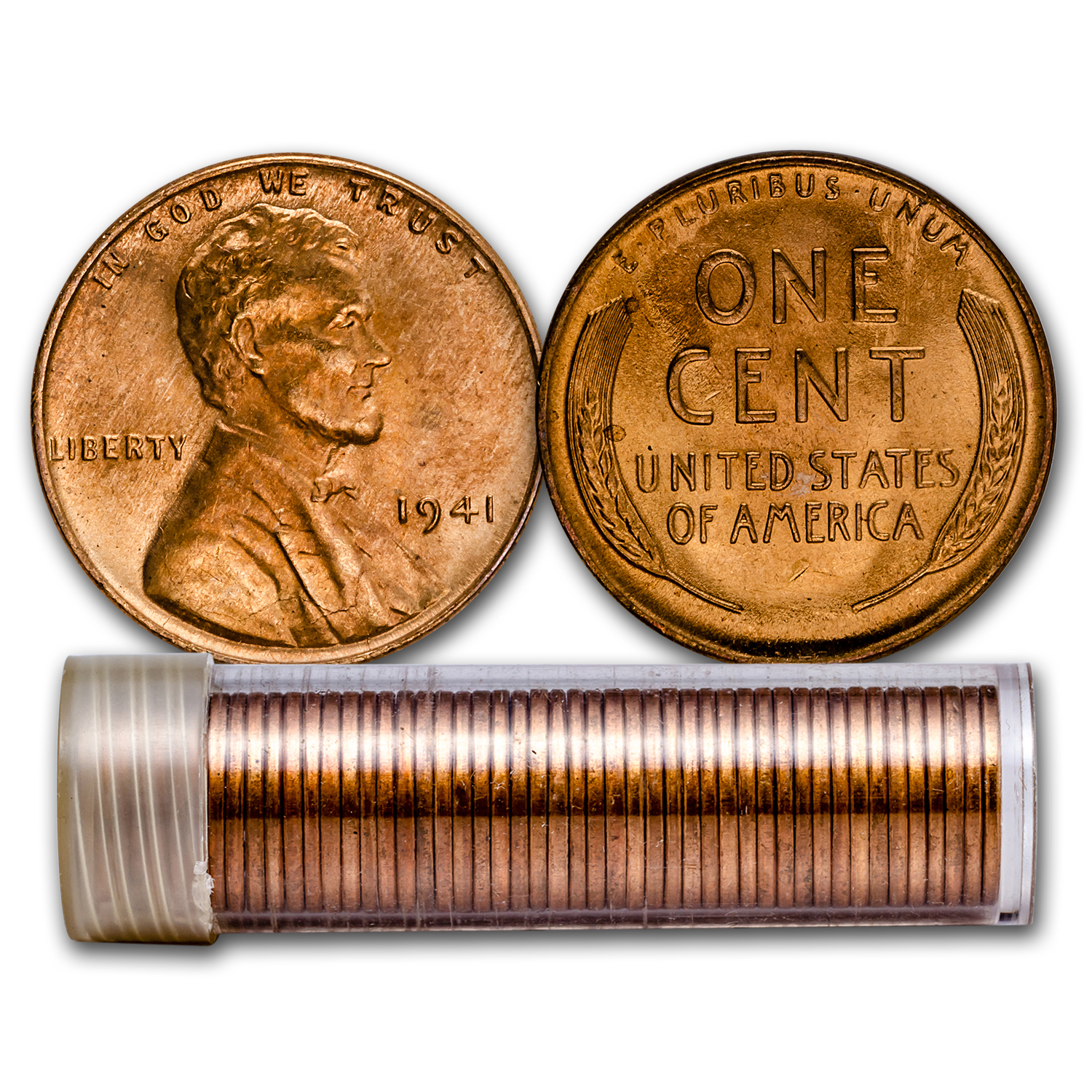 1941 Lincoln Cent 50-Coin Roll BU