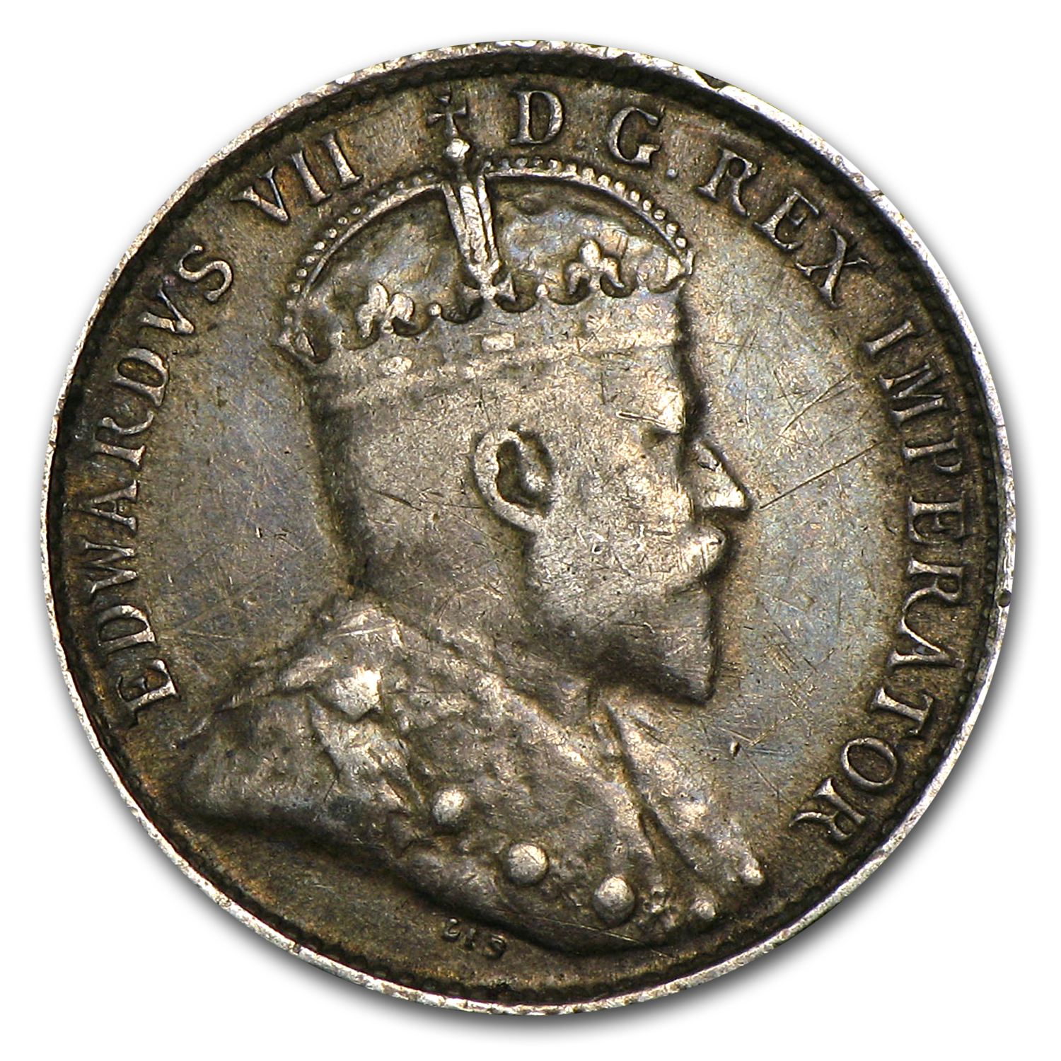 Canada 1907 5 Cents Silver Extra Fine  Edward VII