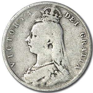 Great Britain Silver Half Crown Queen Victoria (Random Dates)
