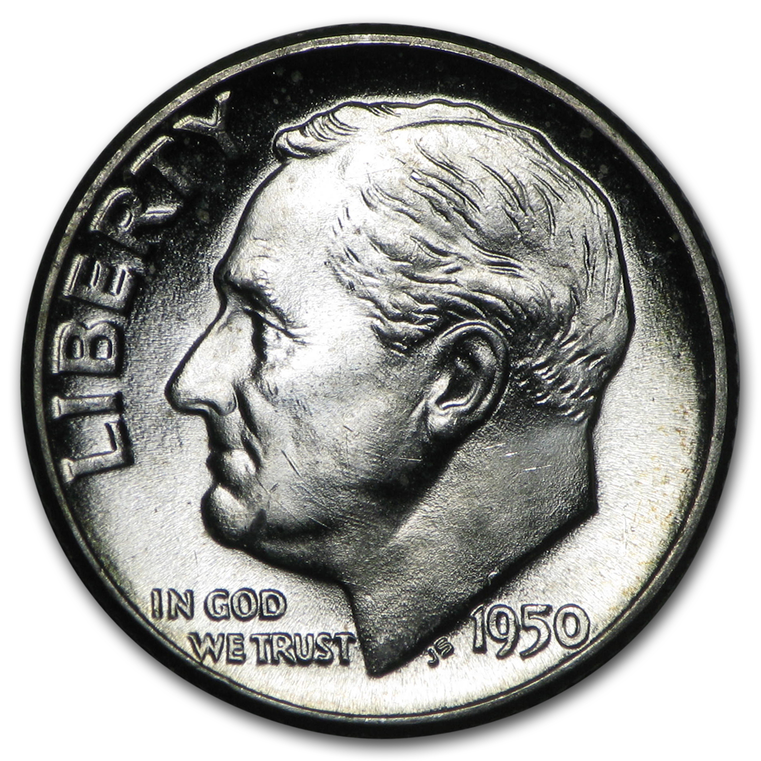 1950-P Roosevelt Dime Roll (50ct) - Brilliant Uncirculated