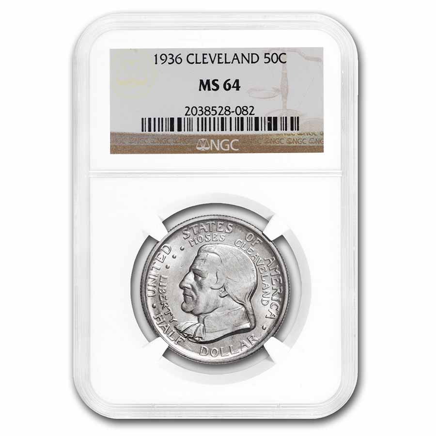 1936 Cleveland/Great Lakes Half Dollar MS-64 NGC