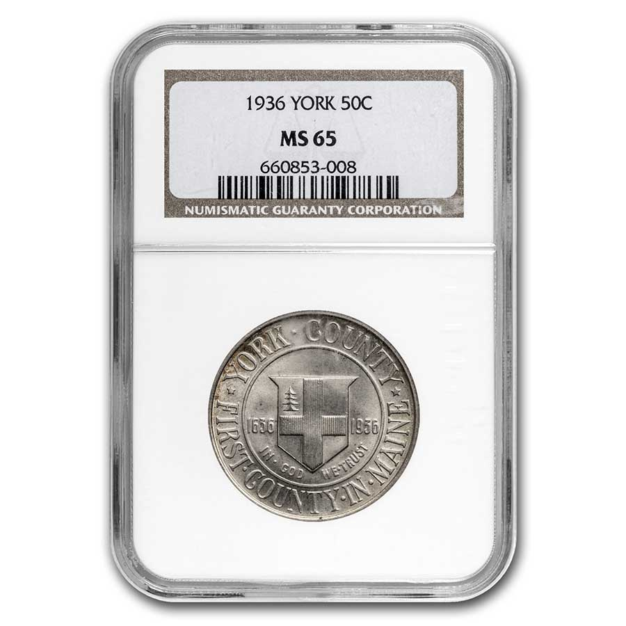 1936 York Tercentenary Half Dollar MS-65 NGC