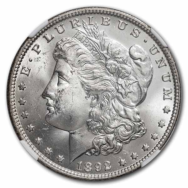1892-O Morgan Dollar MS-64 NGC