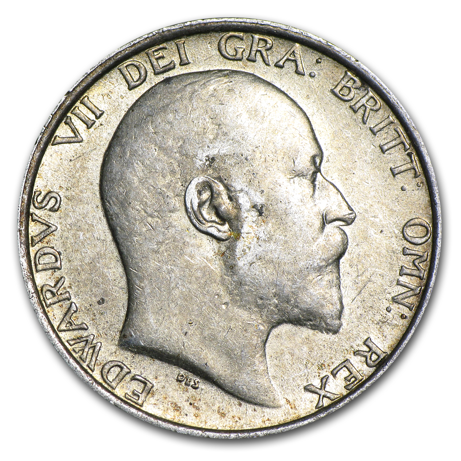 1910 Great Britain Silver Shilling Edward VII EF