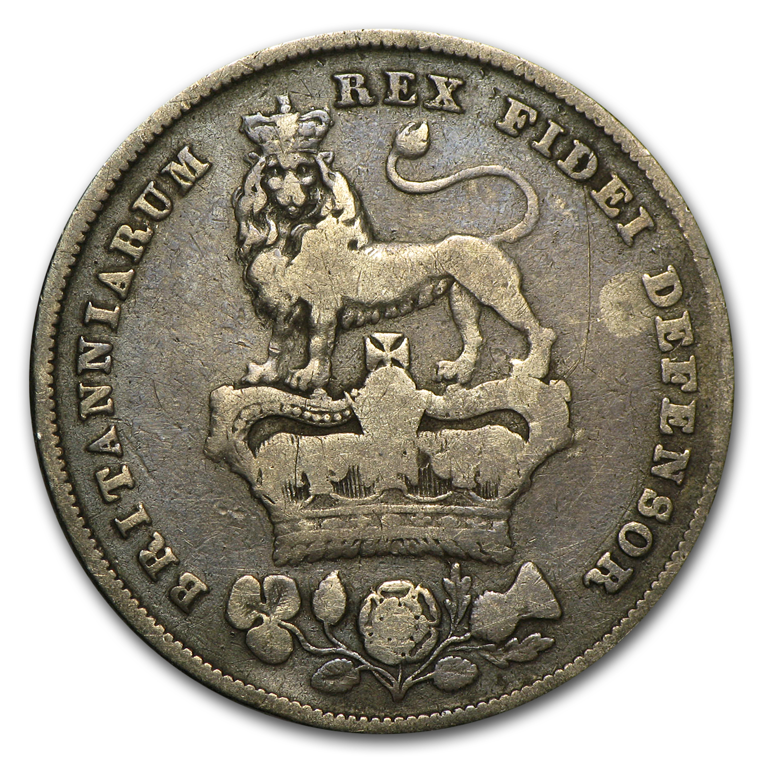 Great Bitain 1826 Shilling Silver George IV Fine