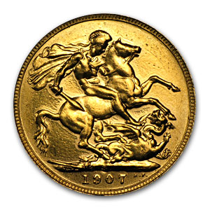 Great Britain Gold Sovereign Edward VII (Scruffy)