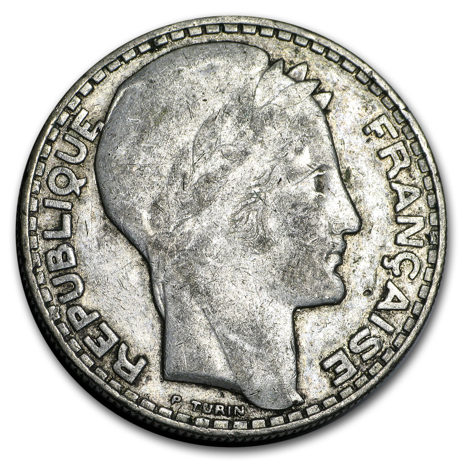 1929-1939 France Silver 20 Francs Avg Circ (ASW .4372)