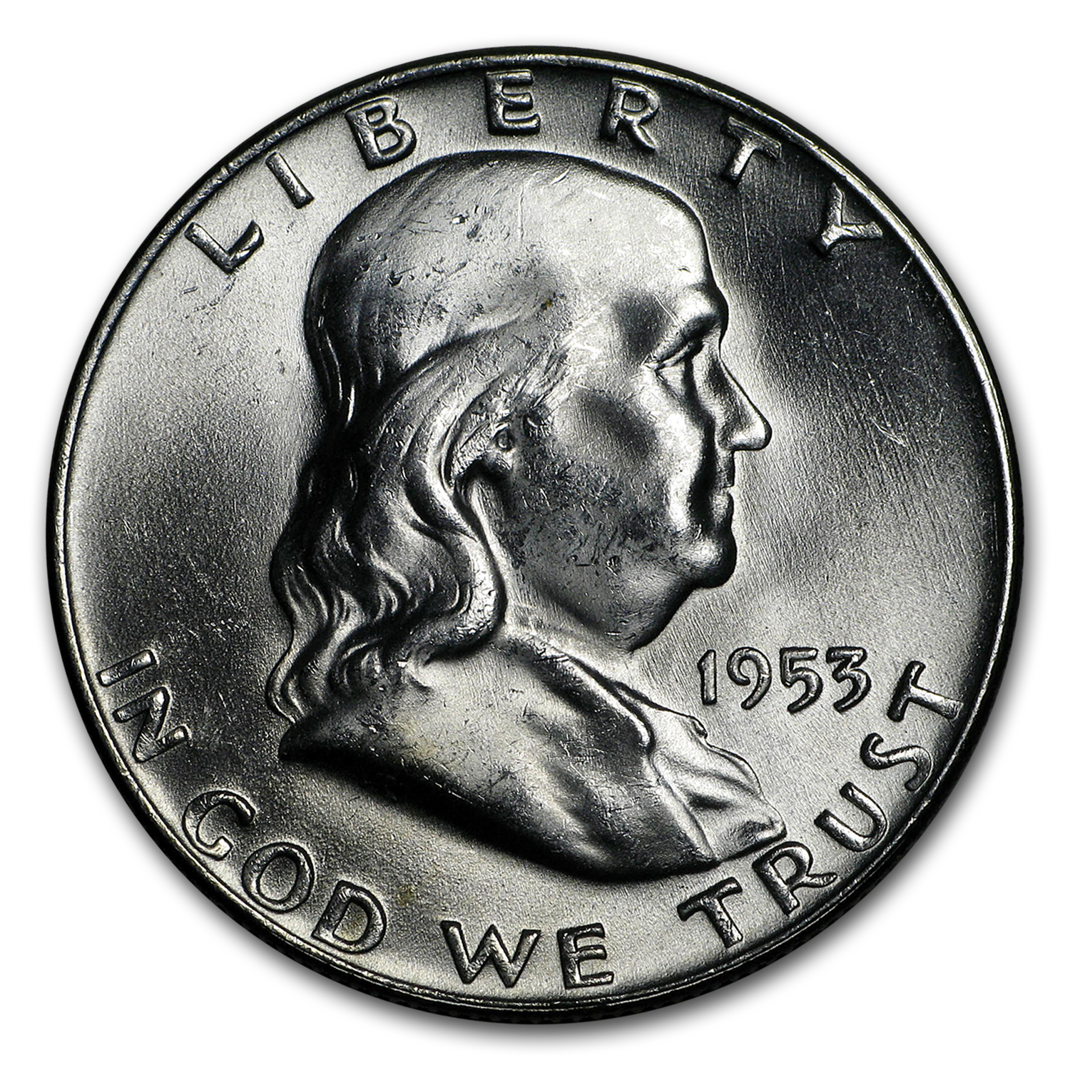 1953-D Franklin Half Dollar BU