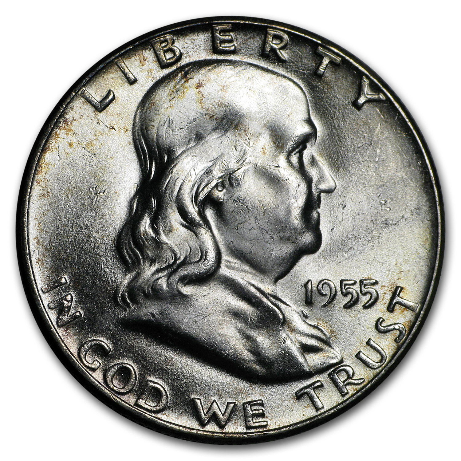 1955 Franklin Half Dollar Bu Franklin Half Dollars 1948