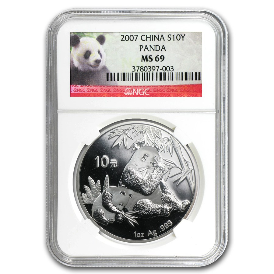 2007 china 1 oz silver panda ms 69 ngc 1 oz silver pandas ngc certified apmex. Black Bedroom Furniture Sets. Home Design Ideas