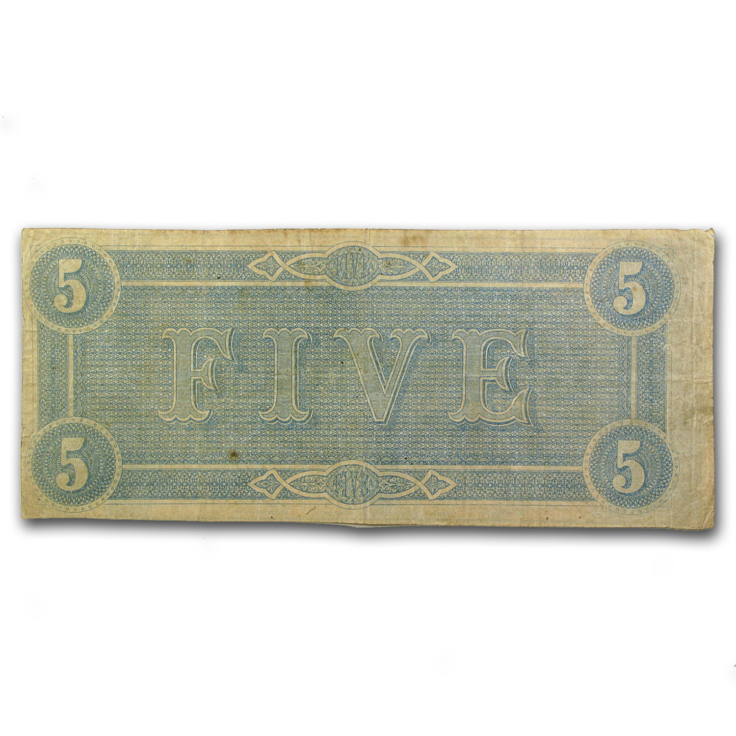 1864 $5.00 (T-69) State Capitol @ Richmond Fine