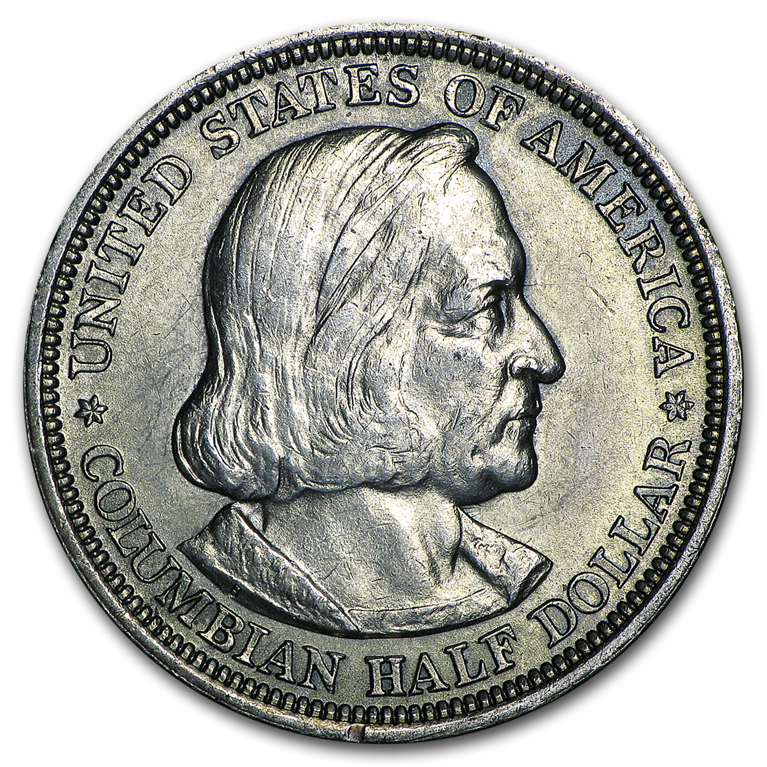 1892 or 1893 Columbian Expo Half-Dollar - Almost Uncirculated