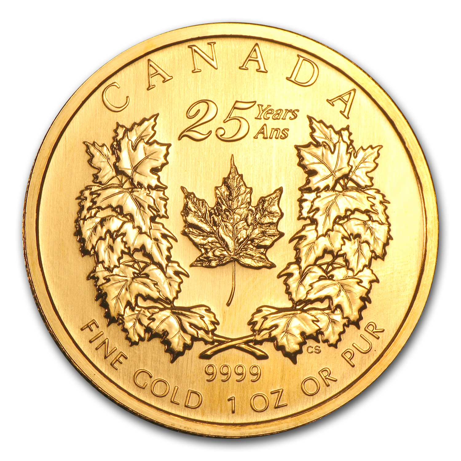 2004 Canada 1 oz Gold Maple Leaf BU (25th Anniversary)