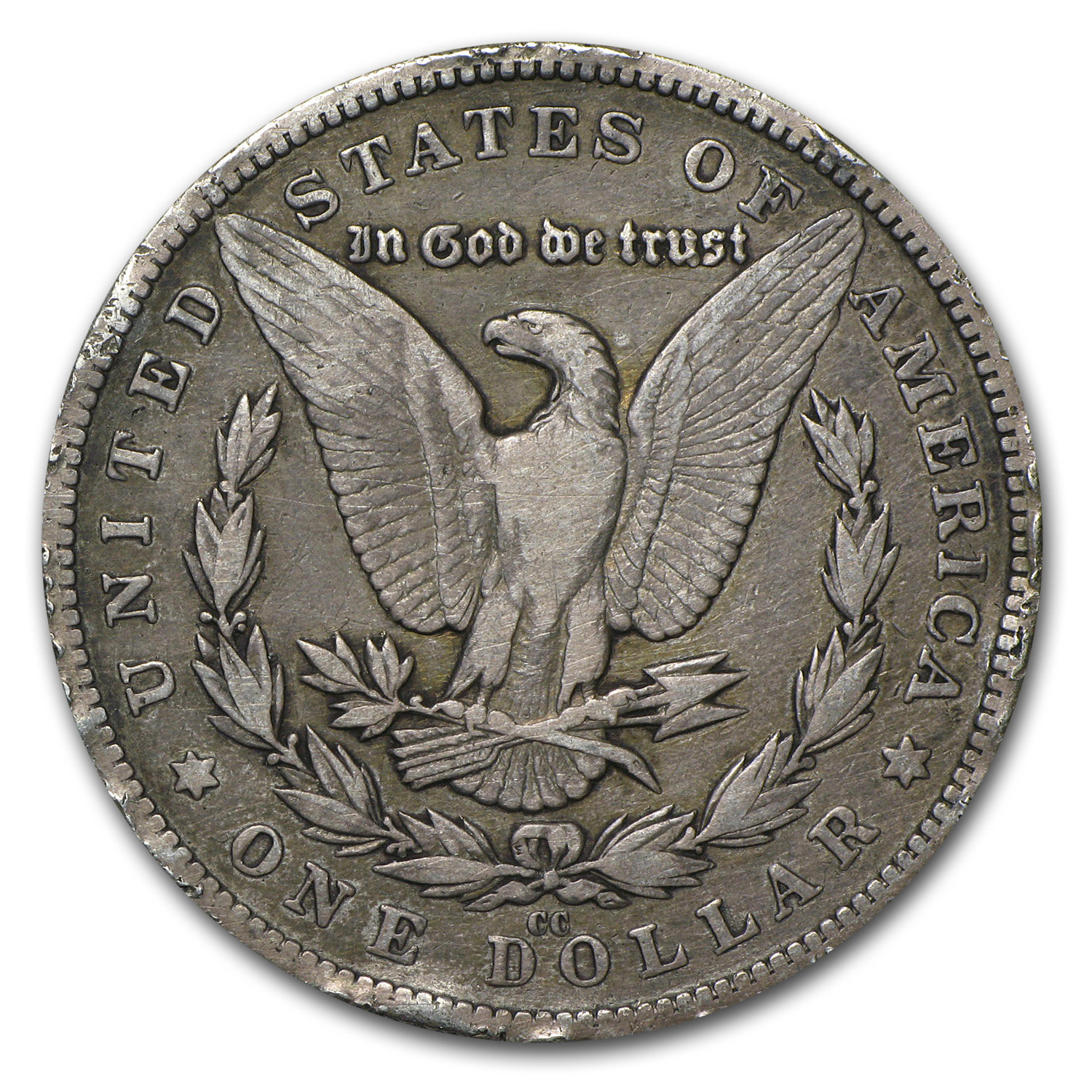 1880-CC Morgan Dollar VF (Rim Bump)