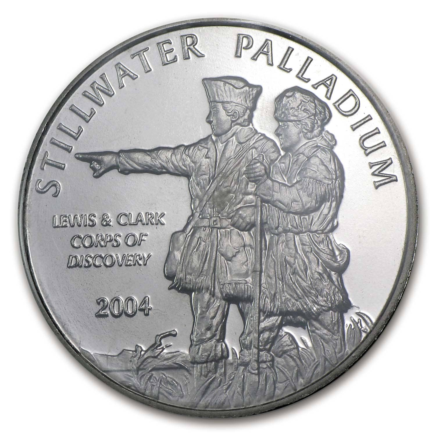 1 oz Palladium Round - Johnson Matthey Lewis & Clark (In Assay)