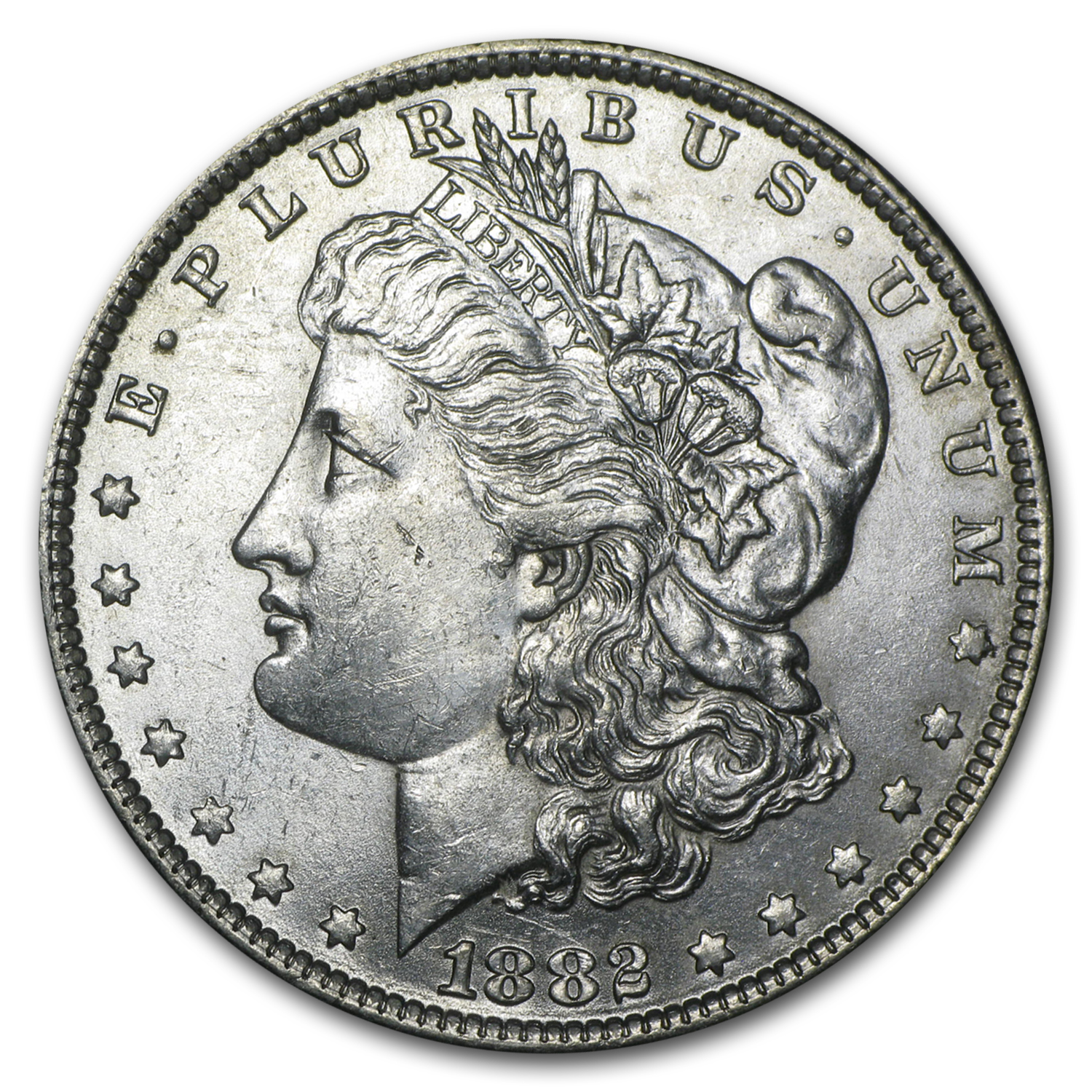 1882-O/S Morgan Dollar BU