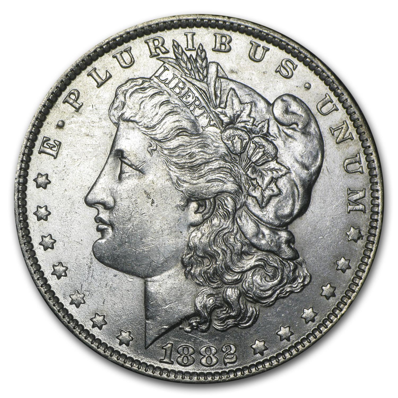 1882 O S Morgan Dollar Bu Gold And Silver