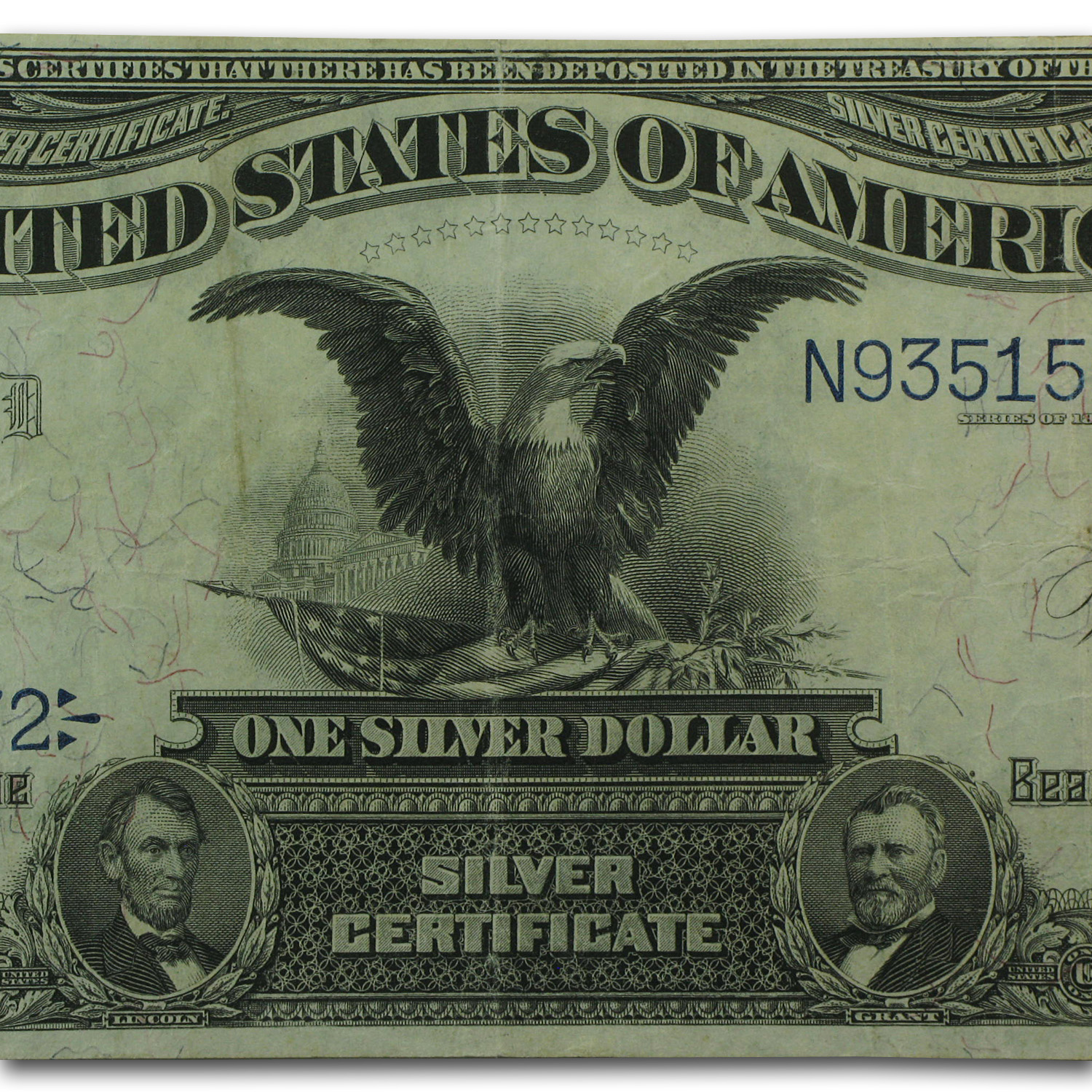 1899 $1 Silver Certificate Black Eagle (Very Fine)