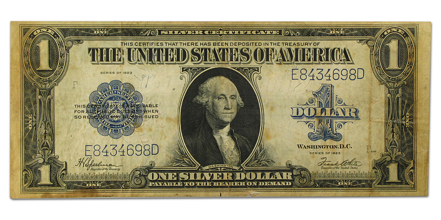 1923 $1.00 Silver Certificate (Very Fine) Details)