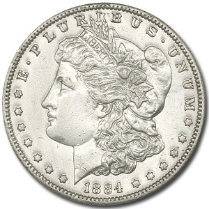 1884-S Morgan Dollar BU Details (Harshly Cleaned)