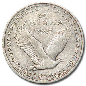 1917-S Standing Liberty Quarter Type-I VF Details (Cleaned)