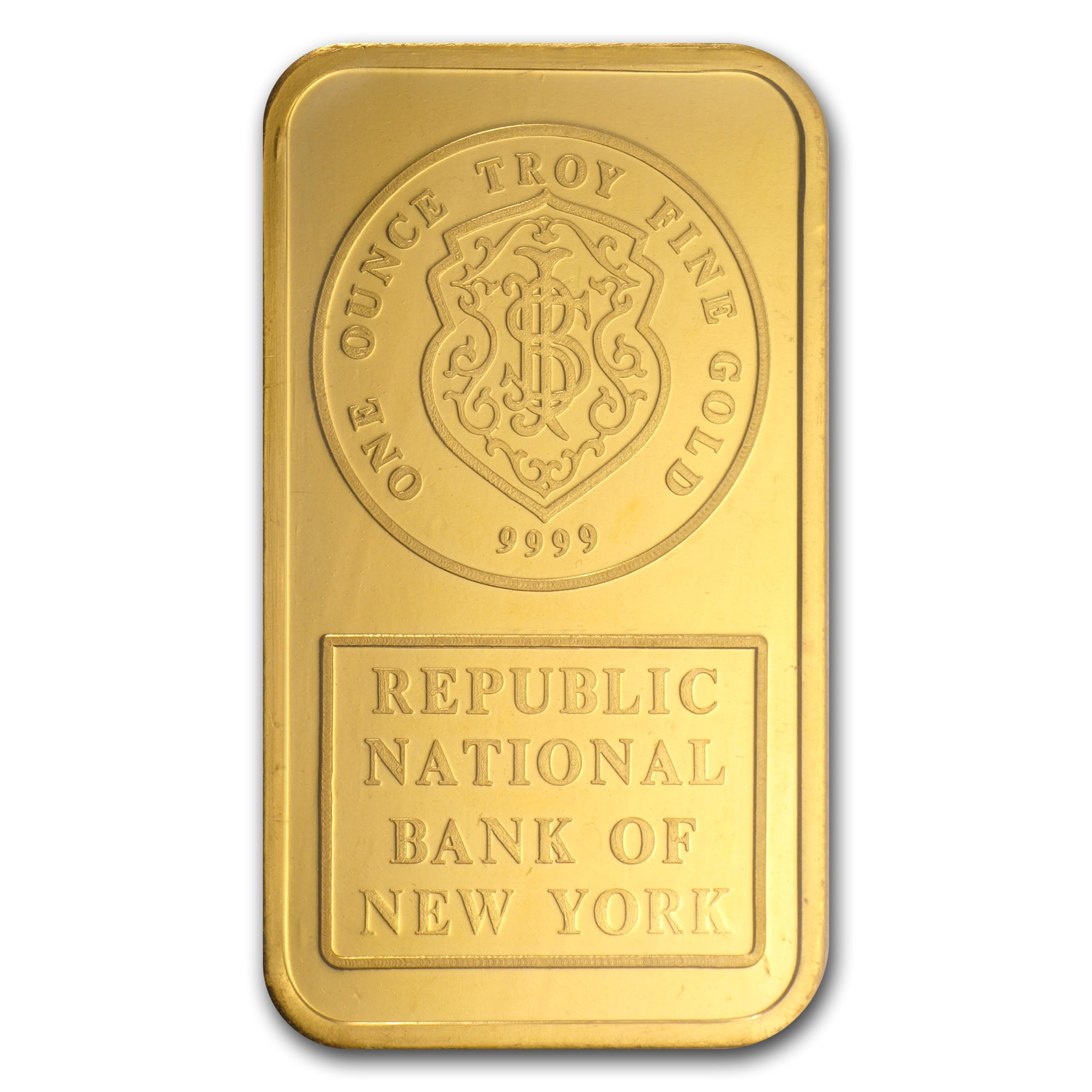 1 oz Gold Bar - Johnson Matthey (Republic Bank New York)
