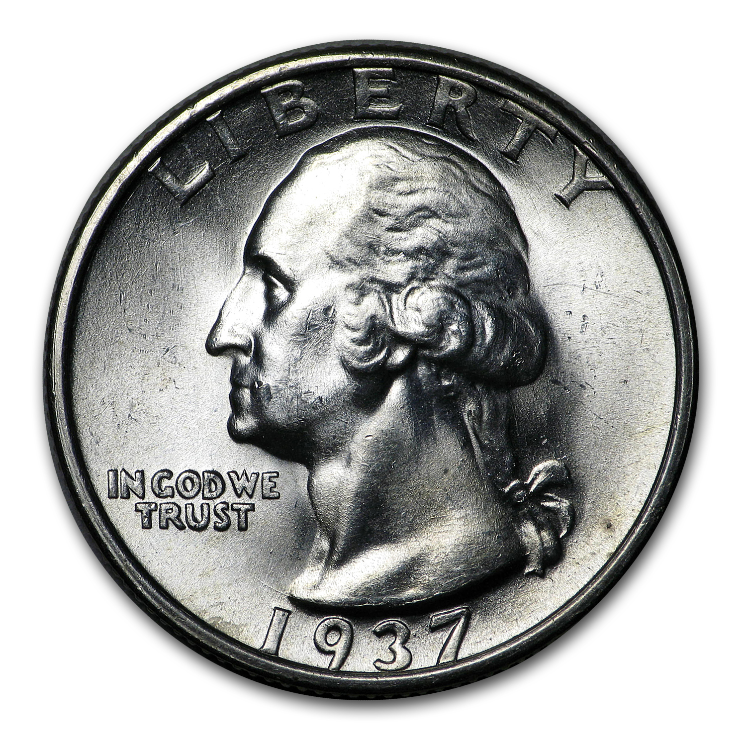 1937-S Washington Quarter BU