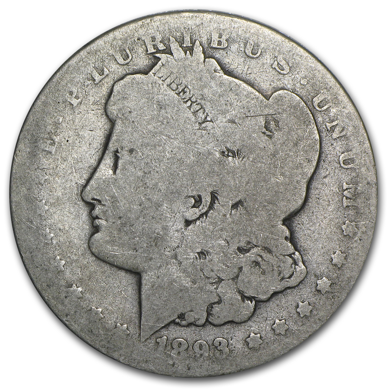 1893 Morgan Dollar AG