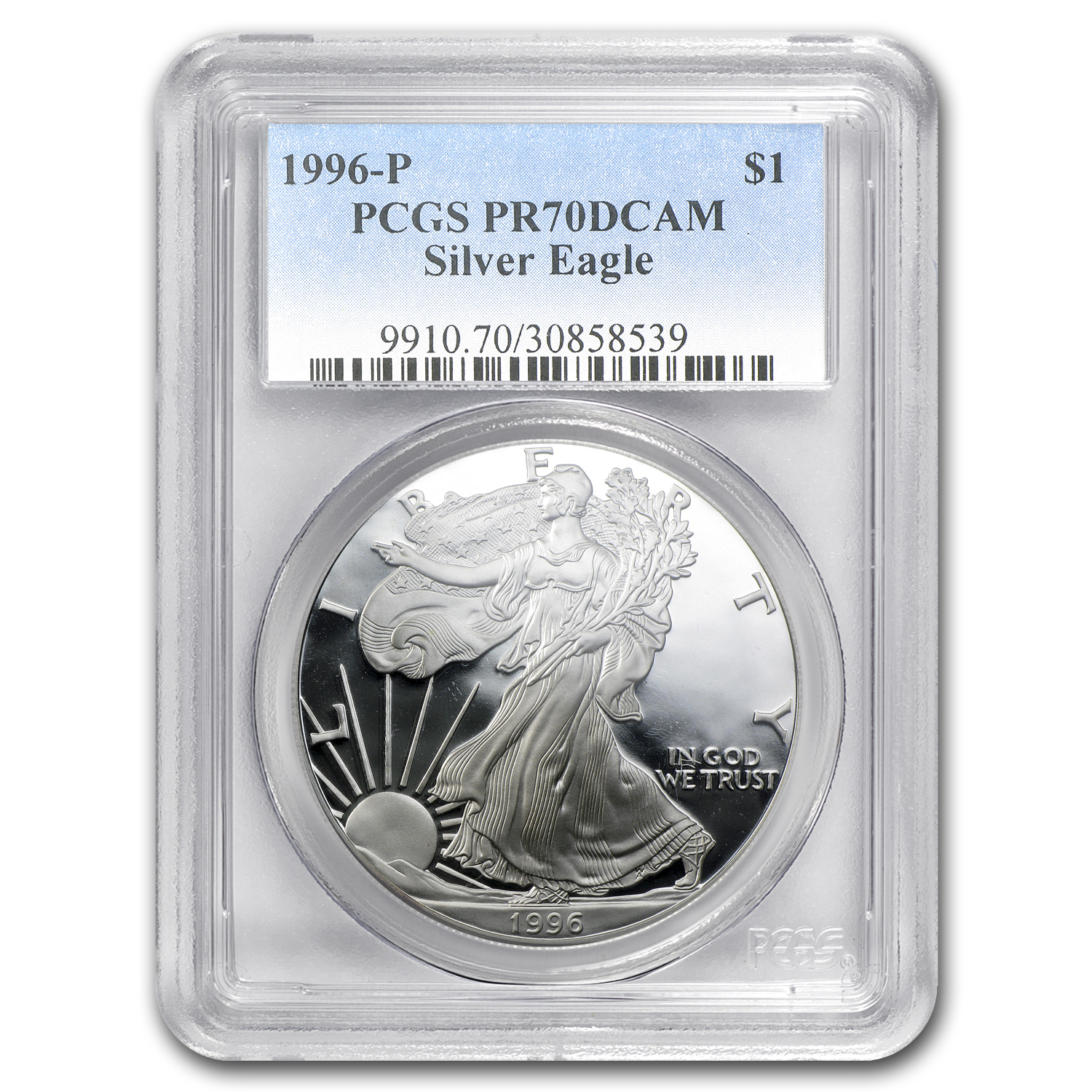 1996-P Proof Silver American Eagle PR-70 PCGS (Registry Set)