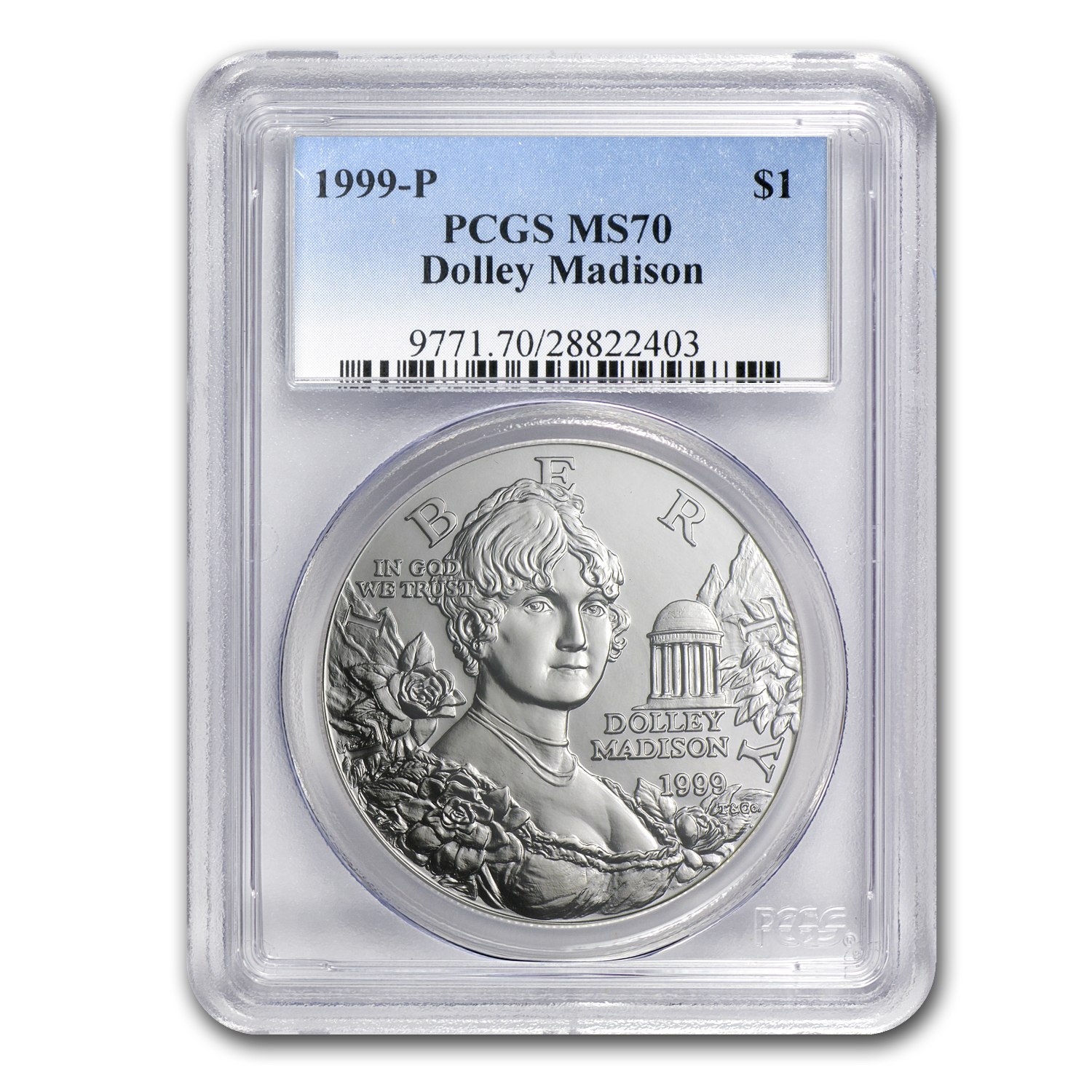 1999-P Dolley Madison $1 Silver Commemorative MS-70 PCGS