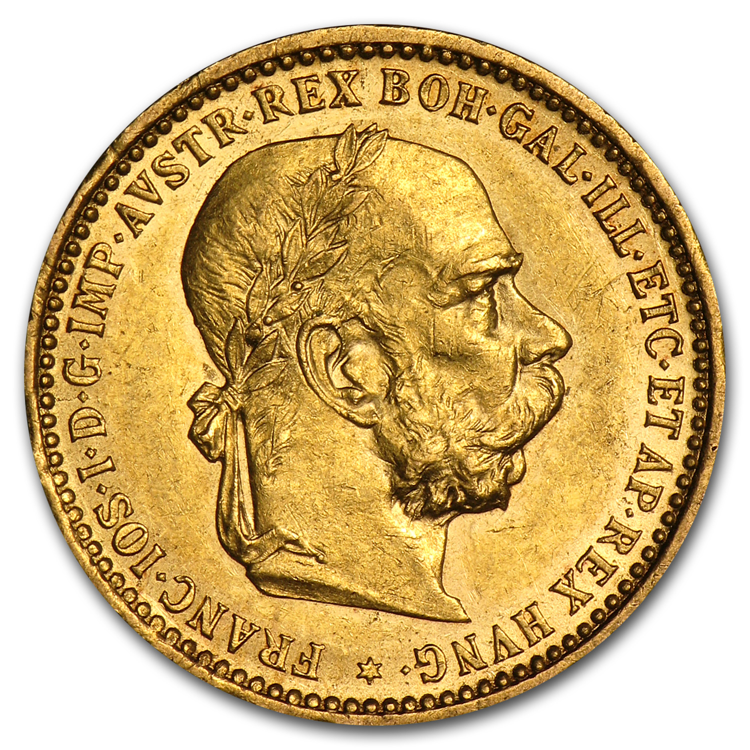 Austria 1905-6 10 Corona Gold Almost Uncirculated