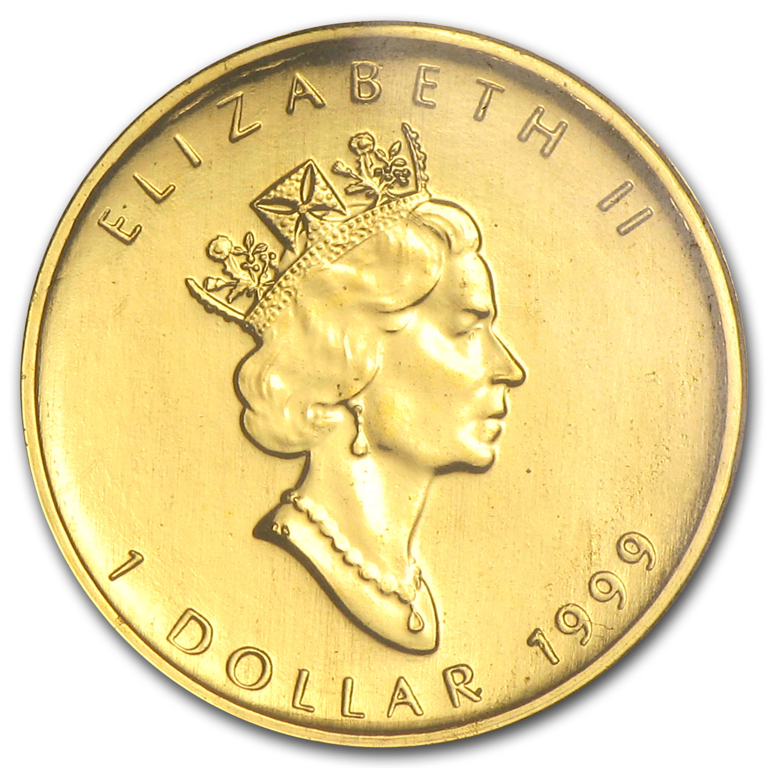 1999 Canada 1/20 oz Gold Maple Leaf BU (20 Years ANS Privy)