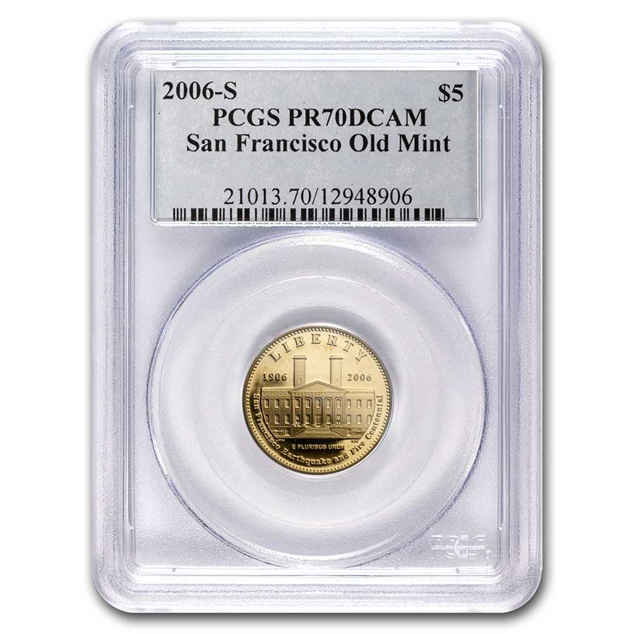 2006-S Gold $5 Commem San Francisco Old Mint PR-70 PCGS