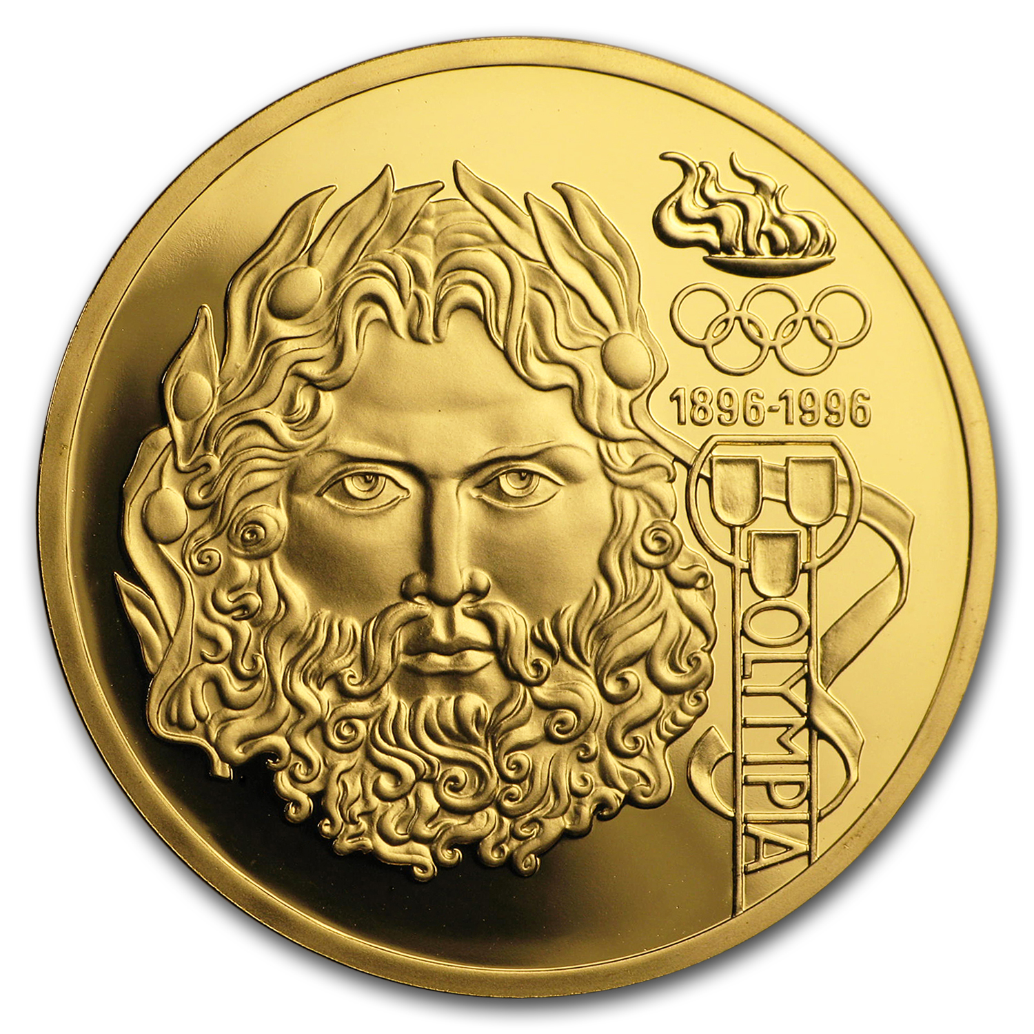 1995 Austria Gold 1000 Schilling Olympics Proof